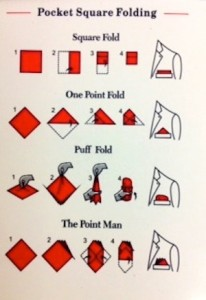 Pocket Square Folds